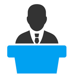 Politician flat icon vector