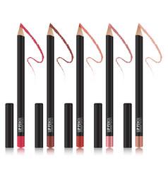 Set of lip pencil mockup package design premium vector