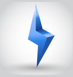 Sparkling lightning bolt vector