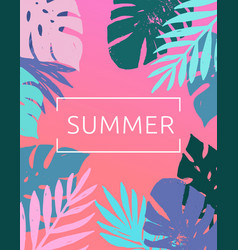 Summer tropical paradise beach vector