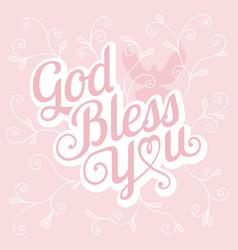 typography god bless you vector image