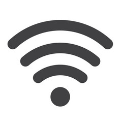 wifi glyph icon web and mobile internet sign vector image