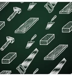 Chalk background tools vector