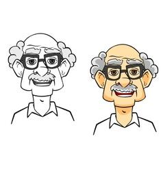 Cartoon senior man vector image