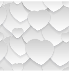 Seamless pattern Heart cut out of paper vector image