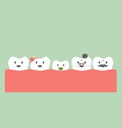 Funny teeth family vector