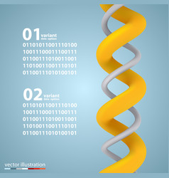 spiral infographic elements with numbers vector image