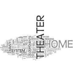 Basic components for a home theater text word vector