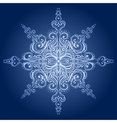 Ornamental snowflake vector image
