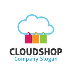 Cloud shop design vector