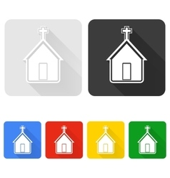 Church icon set vector