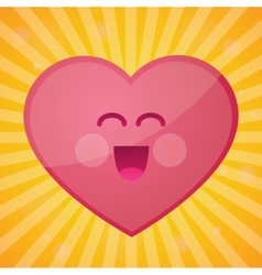 Funny cartoon heart happy valentines day vector