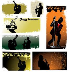 Jazz banners vector