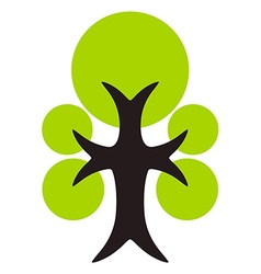 Green tree icon isolated vector