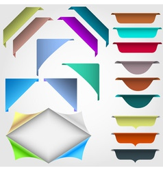 Web design elements vector