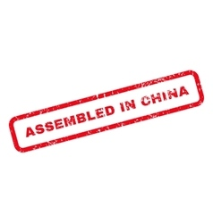 Assembled in china text rubber stamp vector