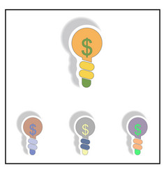 Business idea collection in vector