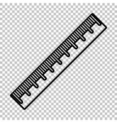 Centimeter ruler sign vector image