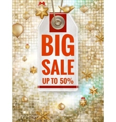 Christmas sale design template eps 10 vector