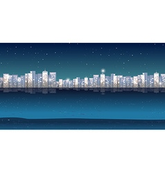 City view at night time vector