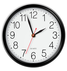 Classic round wall clock isolated on white vector image