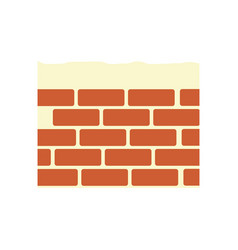 construction brick isolated vector image vector image