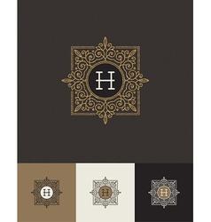 Design glitter gold monograms vector