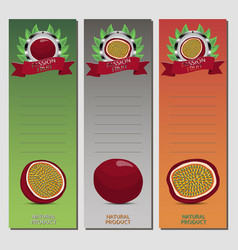 For ripe passion fruit vector