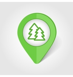 Forest map pin icon vector image