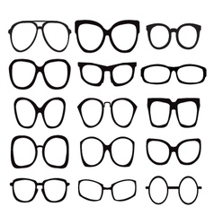 glasses icons Icon Set Sunglasses vector image