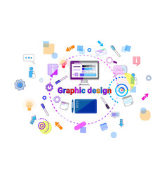 graphic design idea concept creative process web vector image