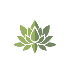 Lotus green logo vector