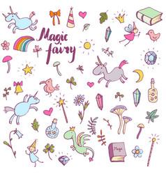 Magic doodle set vector