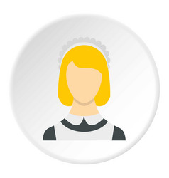 Maid icon circle vector