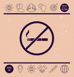 no smoking smoking ban icon cigarette - vector image vector image