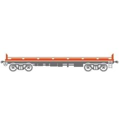 Open platform Railway freight car - vector image vector image