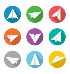 paper plane icon set vector image