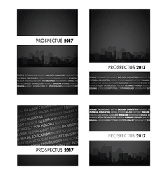 Prospectus black group vector