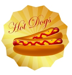 Realistic hot dog vector image