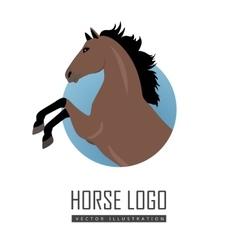 Rearing sorrel horse logo vector