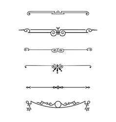set of calligraphic design elements vector image vector image