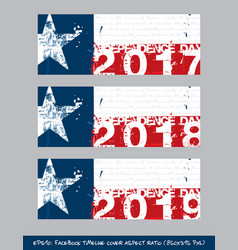 Texan flag independence day timeline cover - vector