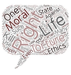 The argument for torture text background wordcloud vector