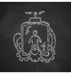 Time machine icon vector