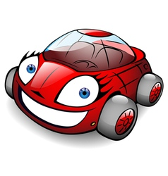toon car vector image vector image