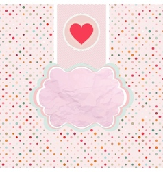 Valentines card template EPS 8 vector image