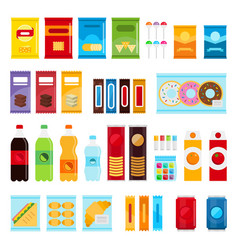 vending machine product items set flat vector image