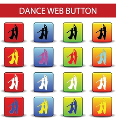 web button dance vector image vector image