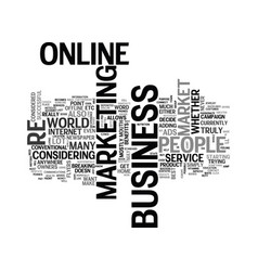 Why should i market my business online text word vector