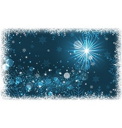 Winter scenery with snowflakes and glitter vector